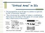 critical area in ics