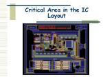 critical area in the ic layout