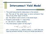 interconnect yield model