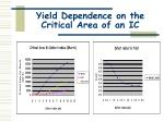 yield dependence on the critical area of an ic