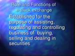 role and functions of a stock exchange