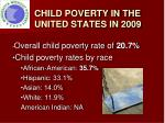 child poverty in the united states in 2009