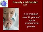 poverty and gender 2008