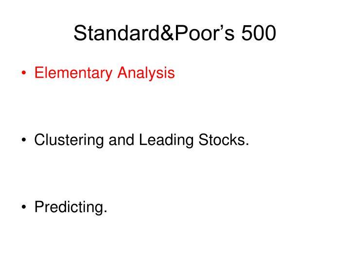 Standard poor s 500