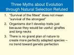 three myths about evolution through natural selection refuted