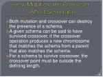 how mutation and crossover affect schemata