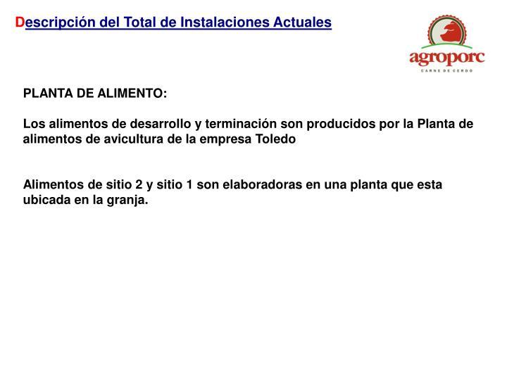 PLANTA DE ALIMENTO: