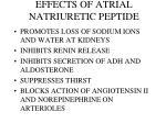 effects of atrial natriuretic peptide