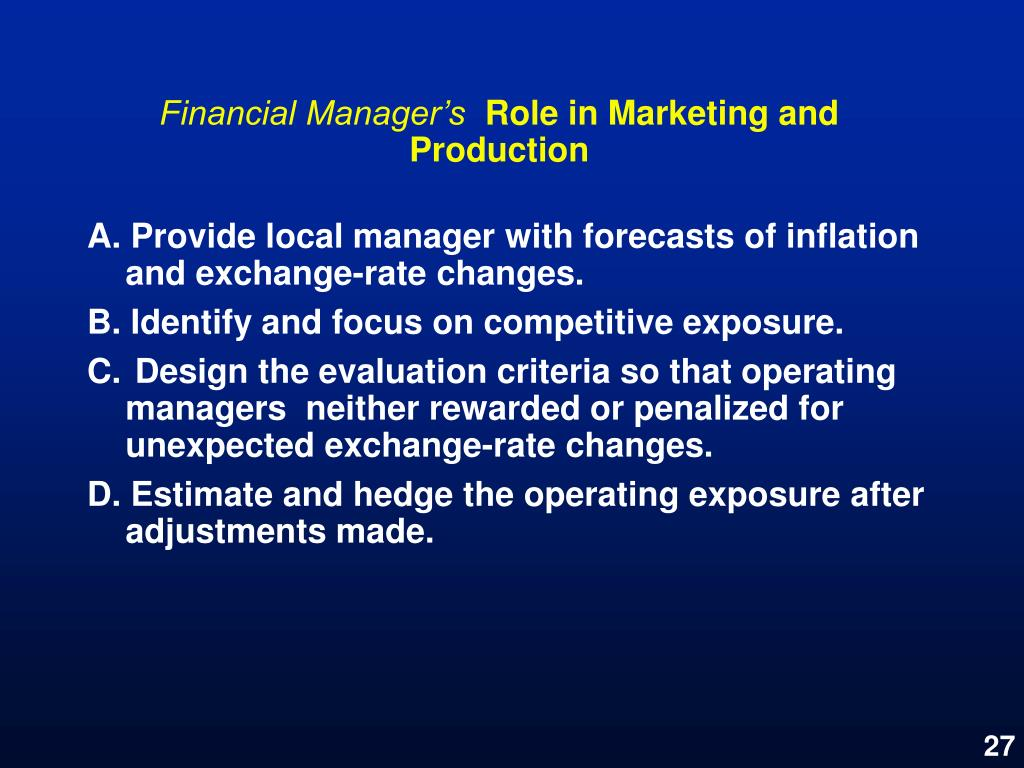 Financial Manager's