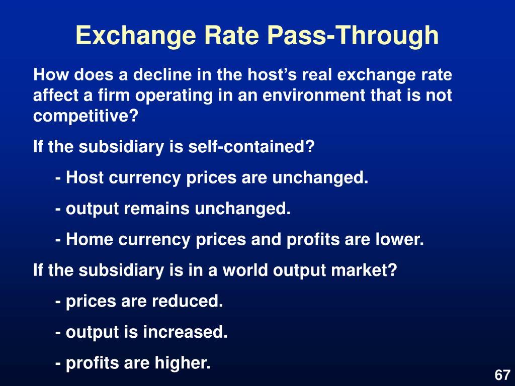 Exchange Rate Pass-Through