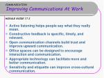 communication improving communications at work module guide 17 2