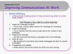 communication improving communications at work