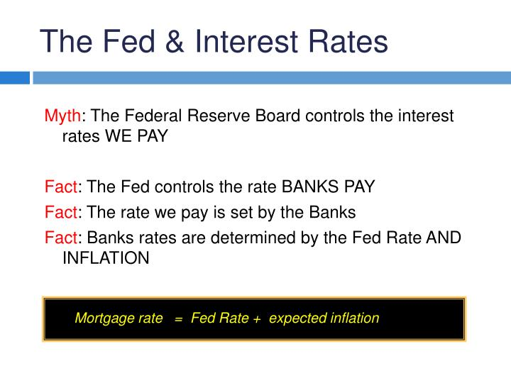 The Fed & Interest Rates
