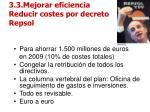 3 3 mejorar eficiencia reducir costes por decreto repsol