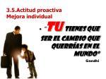 3 5 actitud proactiva mejora individual