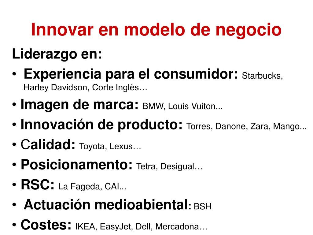 Innovar en modelo de negocio