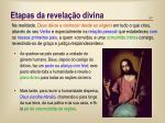 etapas da revela o divina