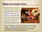 etapas da revela o divina1