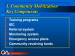 1 community mobilization key components