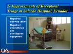 2 improvements of reception triage at salcedo hospital ecuador