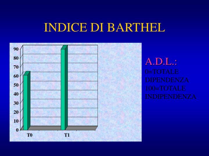 INDICE DI BARTHEL