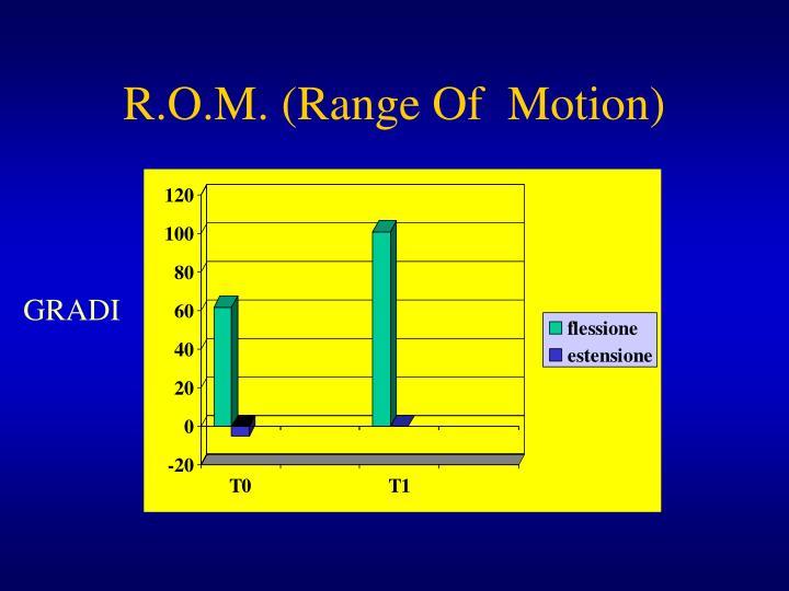 R.O.M. (Range Of  Motion)