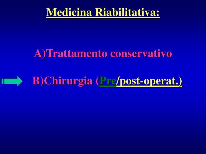 Medicina Riabilitativa: