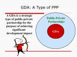 gda a type of ppp
