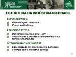 estrutura da ind stria no brasil