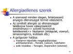 allergiaellenes szerek