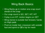 wing back basics