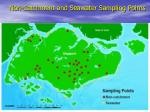 non catchment and seawater sampling points
