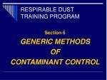 respirable dust training program