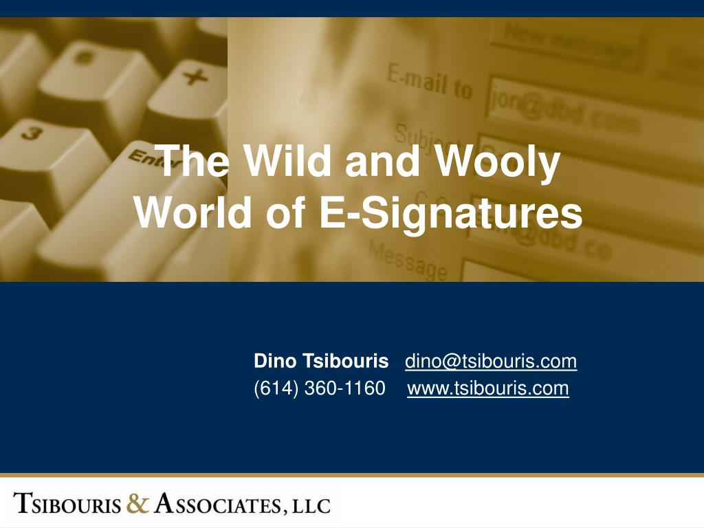 the wild and wooly world of e signatures l.
