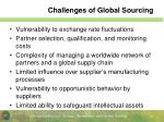 challenges of global sourcing