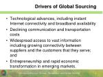 drivers of global sourcing