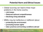 potential harm and ethical issues