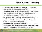 risks in global sourcing