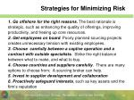 strategies for minimizing risk