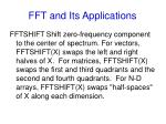 fft and its applications