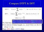 compare dtft dft