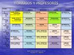 horarios y profesores
