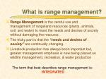 what is range management