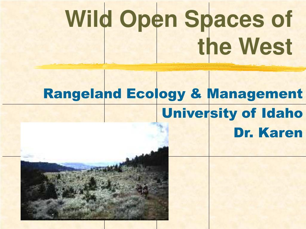 wild open spaces of the west l.