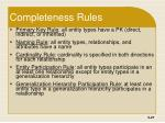 completeness rules