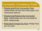 connection consistency rules