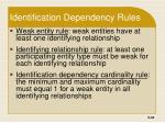 identification dependency rules