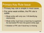 primary key rule issue