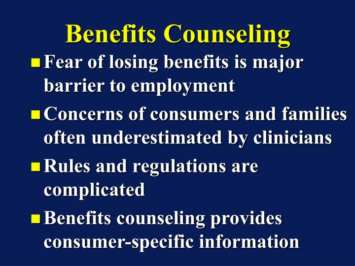 Benefits Counseling