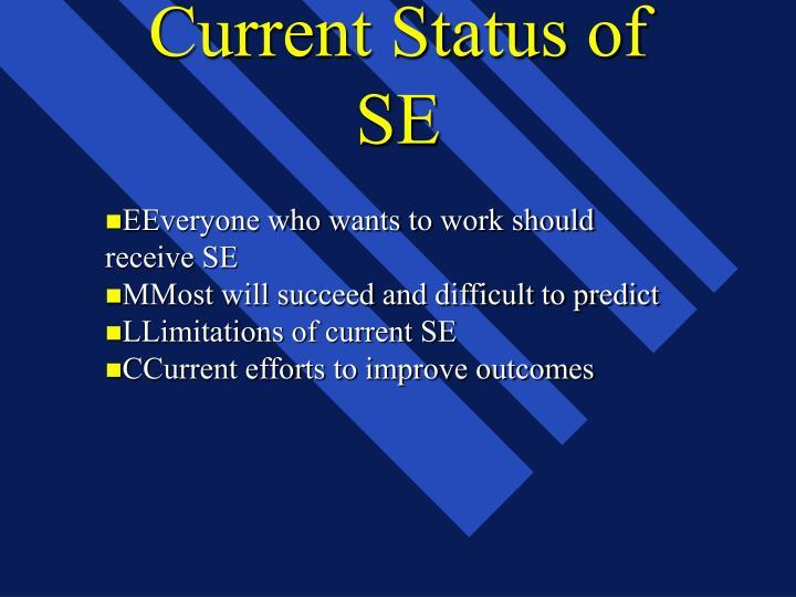 Current Status of SE